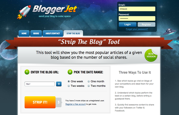 strip the blog tool upgrade