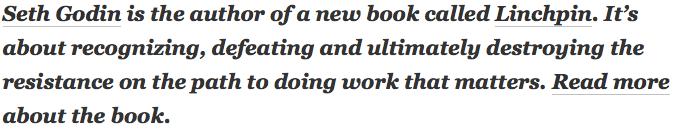 Seth Godin's byline