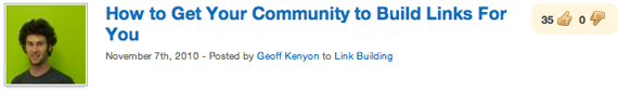 How to Get Your Community to Build Links For You