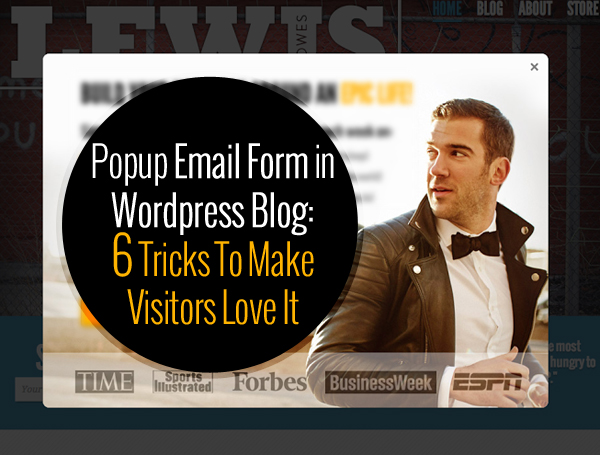 popup email form in wordpress blog