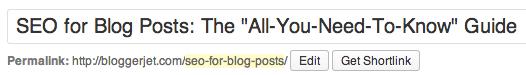 seo headline and url in wordpress
