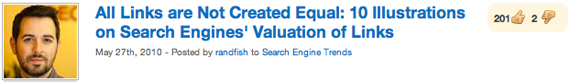 All Links are Not Created Equal: 10 Illustrations on Search Engines' Valuation of Links