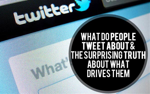 what people tweet about what drives them